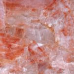 picture of red quartz slab, tiles & surface