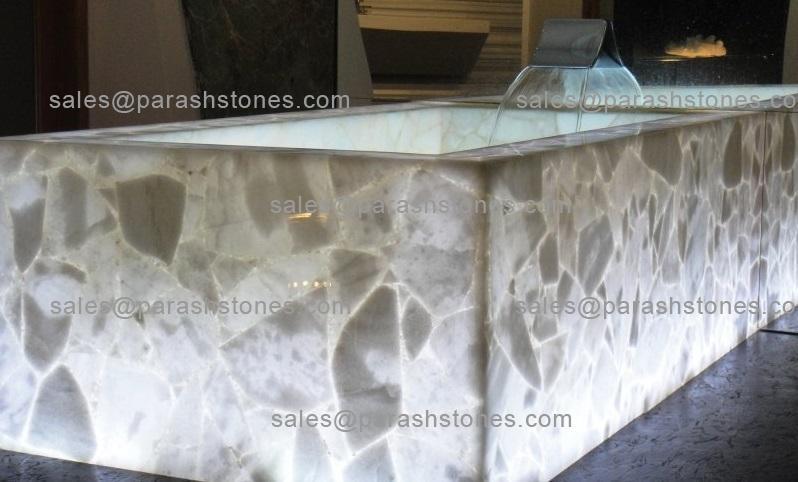 White Quartz Bath Tub Rectangular
