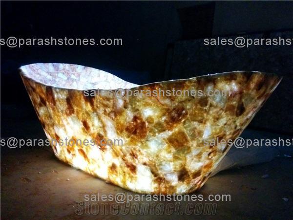 Yellow Quartz Bath Tub