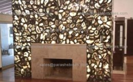 picture of black agate fireplace surround