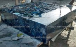 picture of blue agate centre table or coffee table