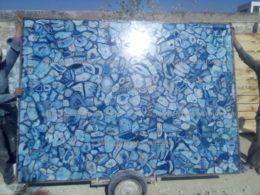 Blue agate large slabs USA