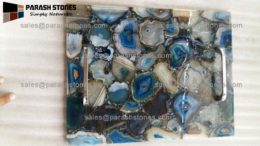 Blue agate serving tray, Vancouver, Canada