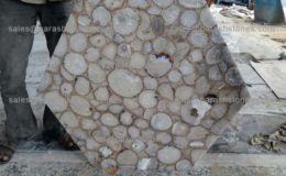 White agate table top. Hull, England