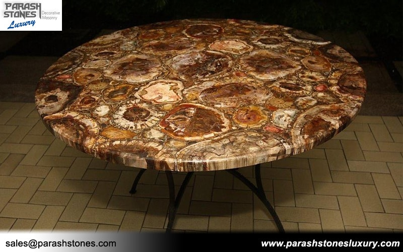 Semi Precious Tabletop Agate Gemstone Table Manufacturer