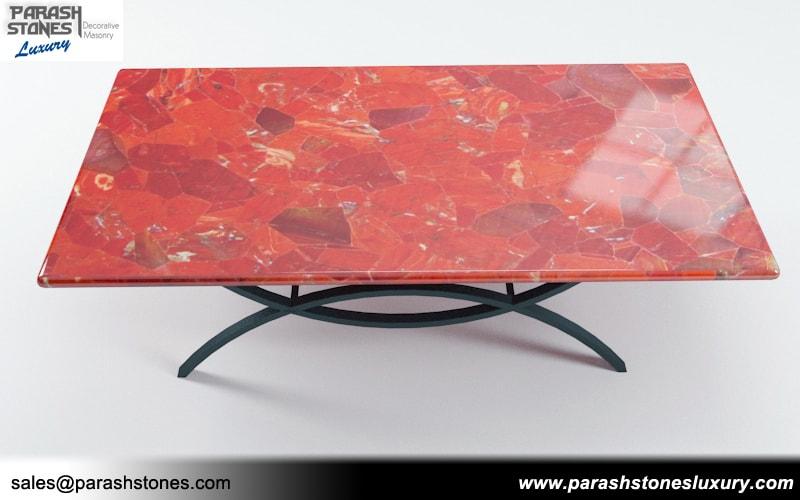 Semi Precious Tabletop Agate Gemstone Table Manufacturer