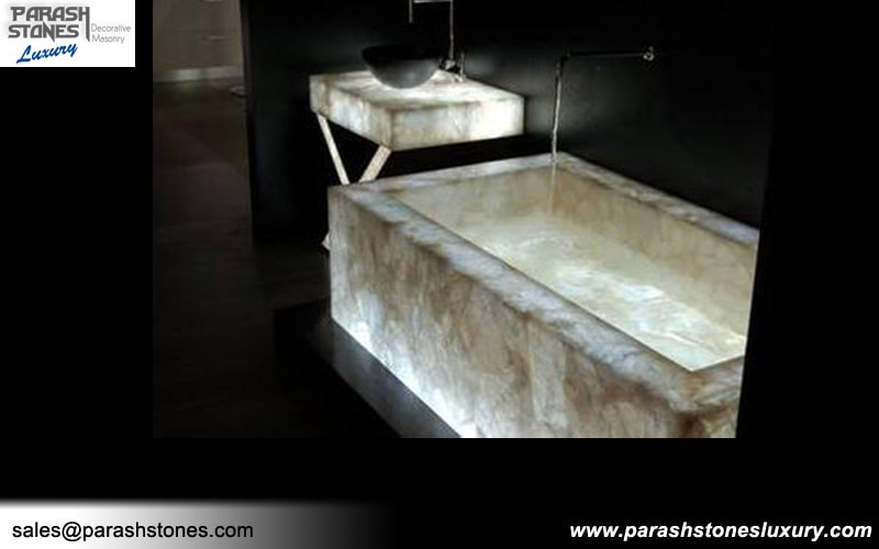 Semi Precious Bathtub Amp Bathroom Vanity