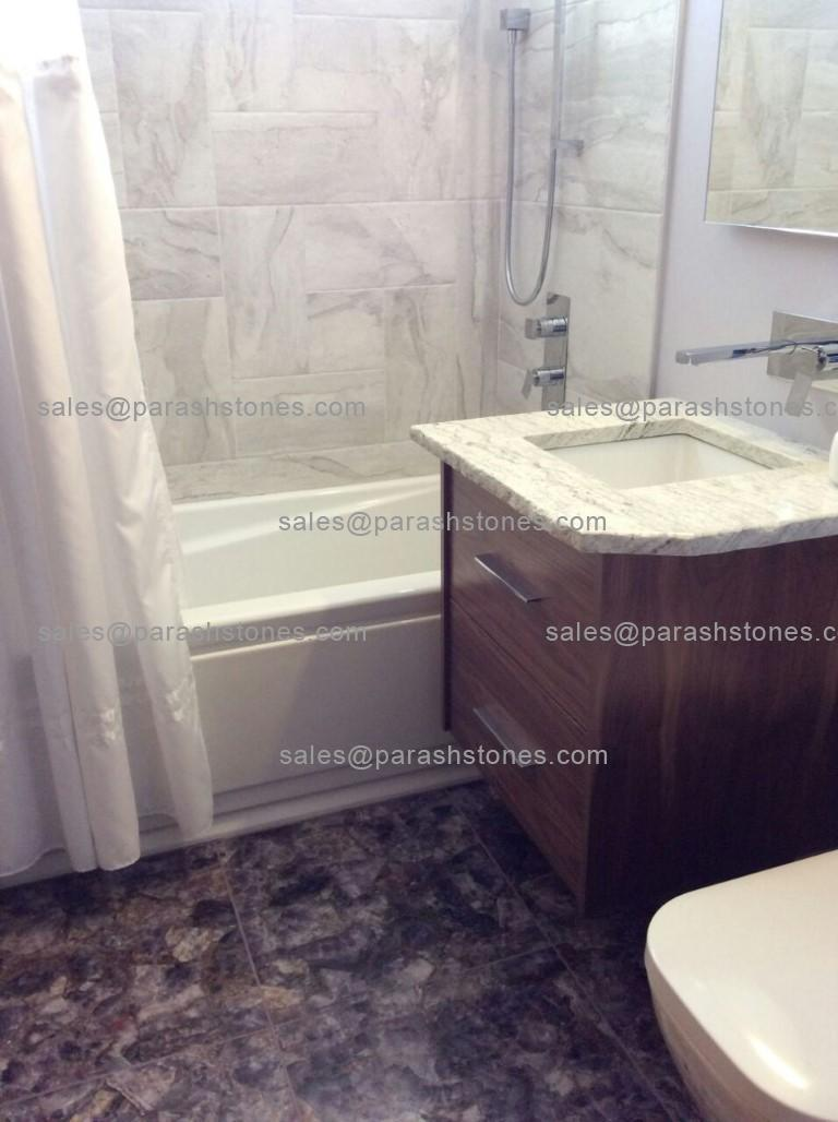 Amethyst Bathroom Floor Tiles Amp Vanity Top For A